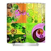 Abstract Painting - Turtle Green Shower Curtain