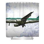Aer Lingus Airbus A319 Art Shower Curtain