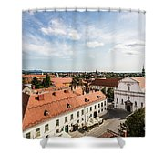 Aerial View Of Zagreb In Croatia Shower Curtain