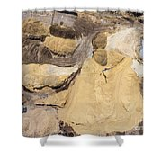 Aerial View Over The Sandpit. Industrial Place In Poland. Shower Curtain