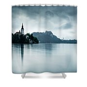 After The Rain At Lake Bled Shower Curtain