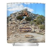 Agioi Saranta Cave Church - Cyprus Shower Curtain