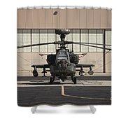 Ah-64d Apache Longbow At Pinal Airpark Shower Curtain