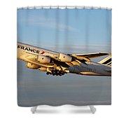 Air France A 380 Shower Curtain