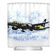 Air New Zealand Hobbit Boeing 777 Art Shower Curtain