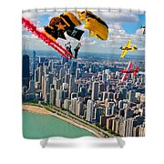 Air-show Shower Curtain