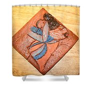Akaweese - Tile Shower Curtain