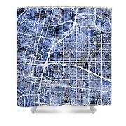 Albuquerque New Mexico City Street Map Shower Curtain