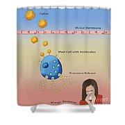 Allergic Response, Illustration Shower Curtain