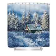 Alpine Hideaway Shower Curtain