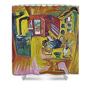 Alpine Kitchen Shower Curtain