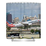 American Airlines Shower Curtain
