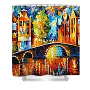 Amsterdam Shower Curtain by Leonid Afremov