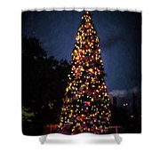 An Epcot Christmas Tree Shower Curtain