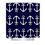 Anchor Shower Curtain by Chastity Hoff