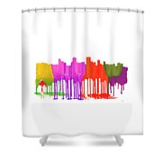 Anchorage Alaska Skyline Shower Curtain