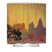 Angkor Sunrise Shower Curtain