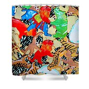 Animal Cookies Shower Curtain