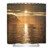 Antarctic Sunset Shower Curtain