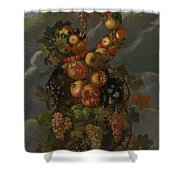 Anthropomorphic Allegory Of Autumn Shower Curtain