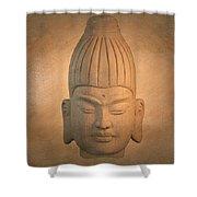 antique oil effect Buddha Burmese.. Shower Curtain