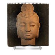 antique oil effect Buddha Gandhara.. Shower Curtain