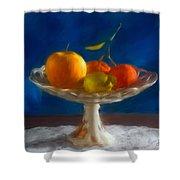 Apple, Lemon And Mandarins. Valencia. Spain Shower Curtain