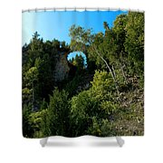 Arch Rock Mackinac Island Shower Curtain