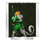 Archer, Shower Curtain