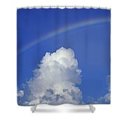 Arching Rainbow Shower Curtain