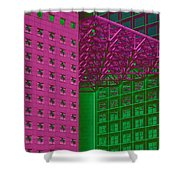 Architectural Abstract Shower Curtain