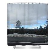 Arizona Mountain Landscape Shower Curtain