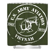 Army Aviation Vietnam Shower Curtain