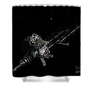 Asteroid Mining Outpost Shower Curtain