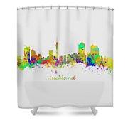 Auckland New Zealand Skyline Shower Curtain