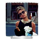 Audrey Hepburn @ Breakfast At Tiffanys Shower Curtain