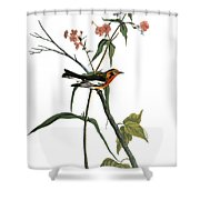 Audubon: Warbler, (1827-38) Shower Curtain