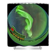 Aurora Borealis Over Churchill Shower Curtain