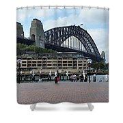 Australia - Sydney Harbour Bridge On Circular Quay Shower Curtain