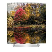 Autumn's Mirror Shower Curtain