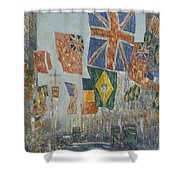 Avenue Of The Allies Shower Curtain