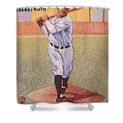 Babe Ruth (1895-1948) Shower Curtain