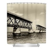 Bahia Honda Bridge Shower Curtain