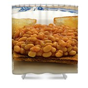 Baked Beans On Toast Shower Curtain