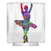 Ballet Dancer-colorful Shower Curtain