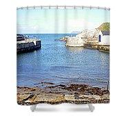 Ballintoy Harbour Shower Curtain