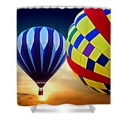 2 Balloons Shower Curtain