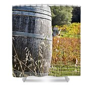 Barrel In The Vineyard Shower Curtain