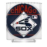 Baseball Button Shower Curtain