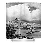 Bay Bridge Under Construction Shower Curtain